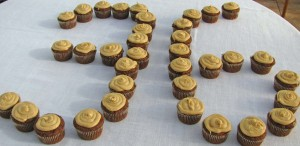 Chocolate Peanut Butter Blossom Cupcakes