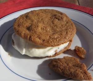 ginger zinger ice cream sandwich
