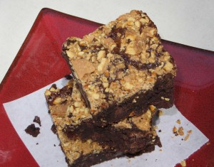 Chocolate Salted Caramel Crunch Brownies
