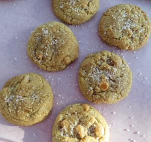 sweet and salty butterscotch cookies