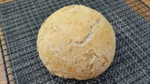 finished boule with no knead dough