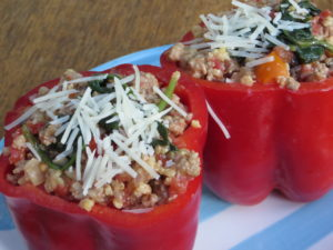 Turkey Millet Stuffed Peppers